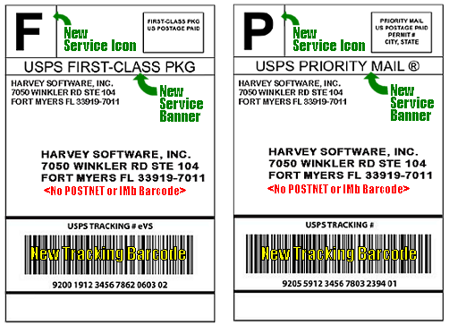 New USPS Package Labels and IMpb Examples